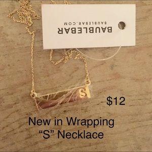 """BaubleBar Letter """"S"""" Necklace"""